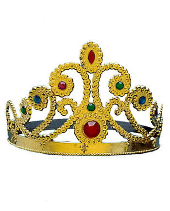 Golden Cindy crown with gems