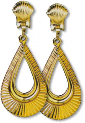 Golden Earrings Pear Shape