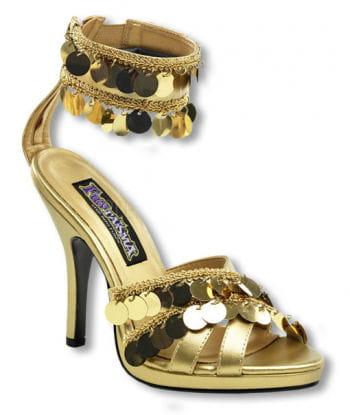 Goldene Sandaletten mit Fesselriemchen 36 UK 5 US 7