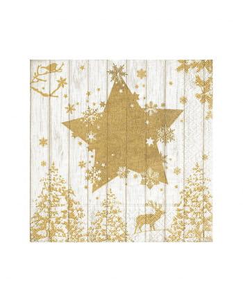 Golden Star Napkins 20 Pieces