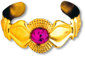 Golden Bracelet with Gem