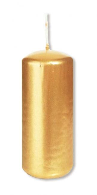 Goldfarbene Stumpenkerze