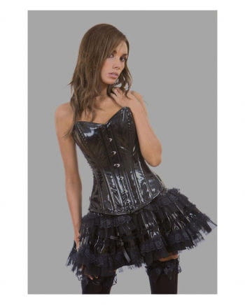 Gothic vinyl mini skirt black