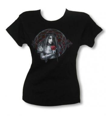 Gothic Braut Girl Shirt schwarz