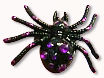 Gothic Ring Spider Black