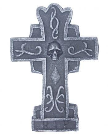 Gravestone cross with skull 36 cm