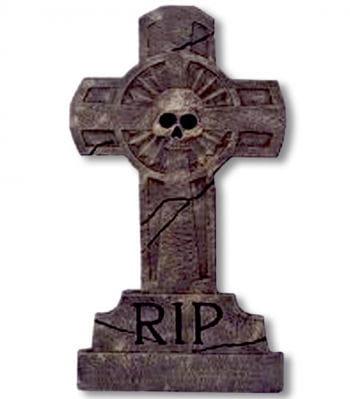 Tombstone Cross Skull RIP
