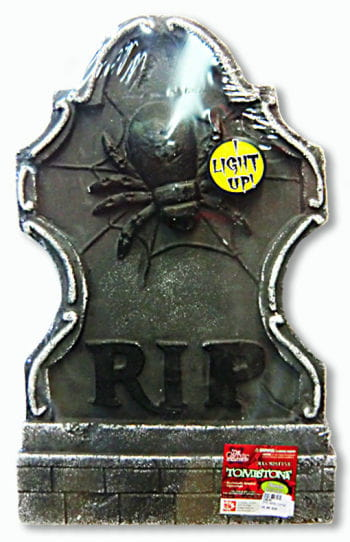 Tombstone with Spider and LEDs