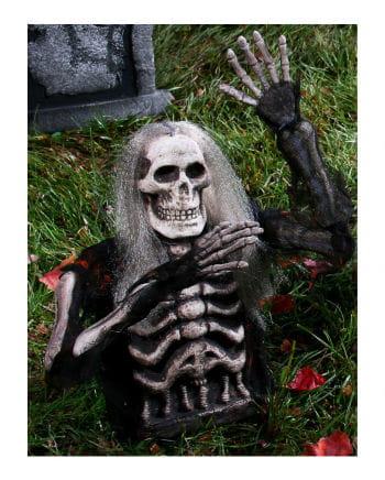 Grabwächter Skelett Steckfigur Schwarz