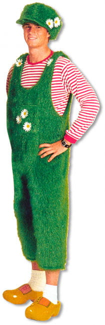 Grass Dungarees with Hat