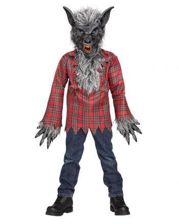 Werwolf Kinderkostüm Grau Gr.L