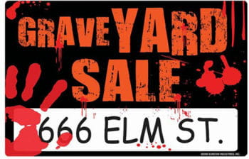 Graveyard Sale Sign