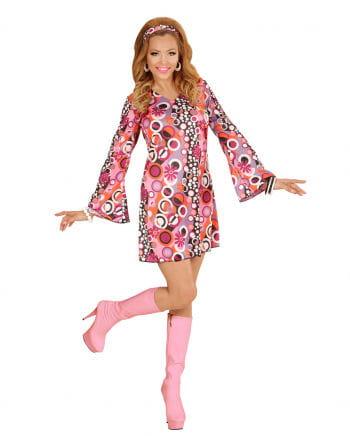 Groovy 70s Mini Dress With Hairband