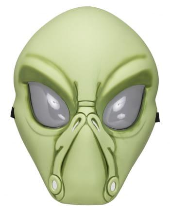 Grüne Alien Halbmaske