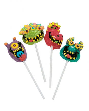 Scary monster lollipops