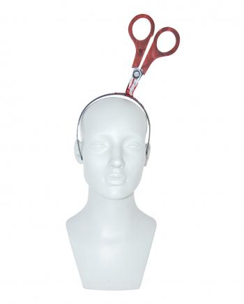 Haarreif mit Blutiger Schere