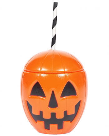 Pumpkin Drinking Cup With Lid
