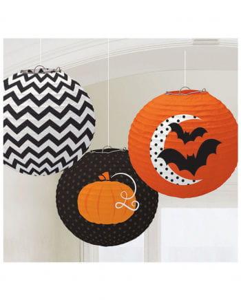 Modern Halloween Lampions 3 Pcs.