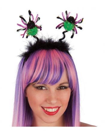 Headband spider green / gold