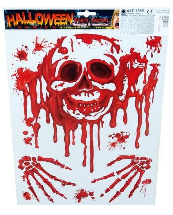 Halloween Folie blutiger Totenkopf