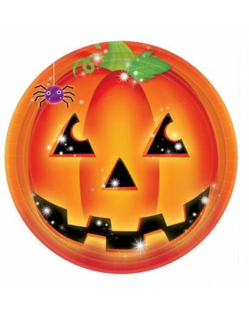 Halloween Kürbis Pappteller