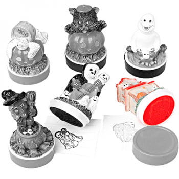 Halloween Rubber Stamp Haunted House