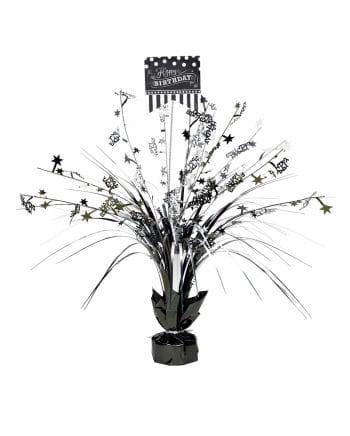 Happy Birthday Table Decoration Black / Silver
