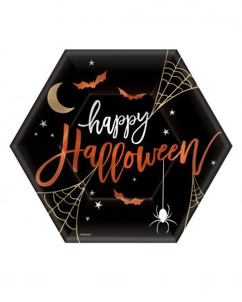 Happy Halloween Hexagon Paper Plate 8 Pcs