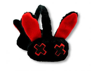 Luv Bunny Earmuffs Black Red
