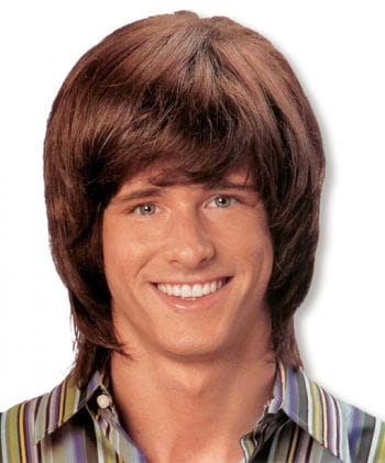 Mens Wig Mullet Brown