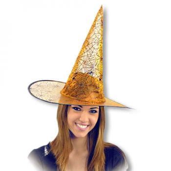 Lurex Witch Hat with Spinnwebmuster