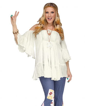 60s Hippie Cotton Blouse White
