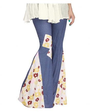 Hippie Jeans Schlaghose mit Blumen