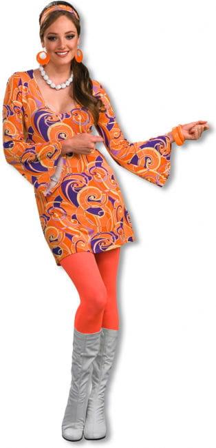 Hippie Mini Dress Tangerine