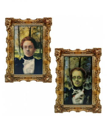 Hologramm Portrait Zombie-Magd