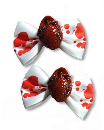 Horror Hair Clip Red Heart