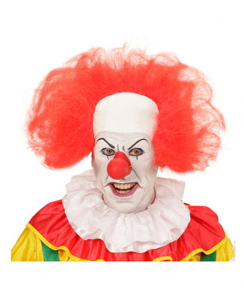 Clown bald with red hair ring
