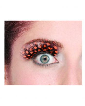 polka dots feather eyelashes Orange