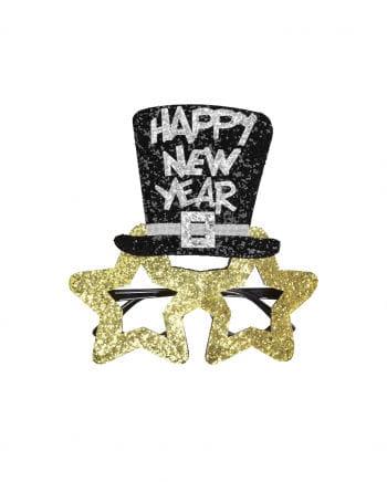 Happy New Year Glasses golden