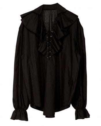 Historical Ruffled Shirt Black
