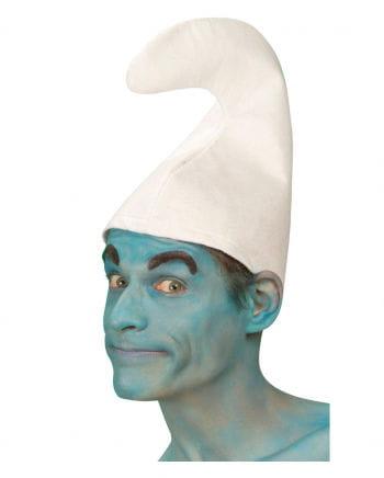 Schlumpfige Wichtelmann Mütze weiß
