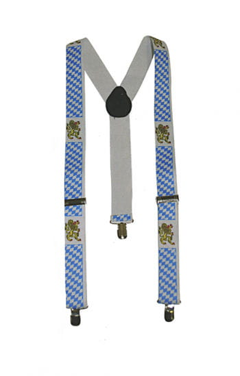 Suspenders with Bavarian pattern