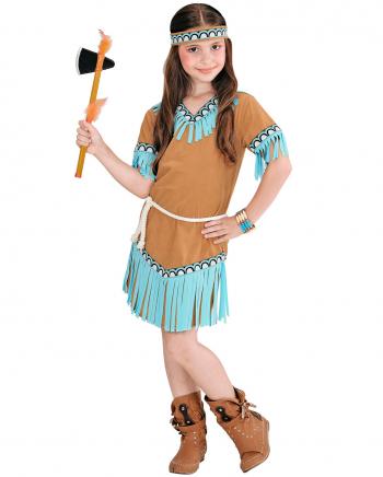 Indianerin Mädchenkostüm