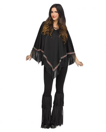 Indian Poncho Black