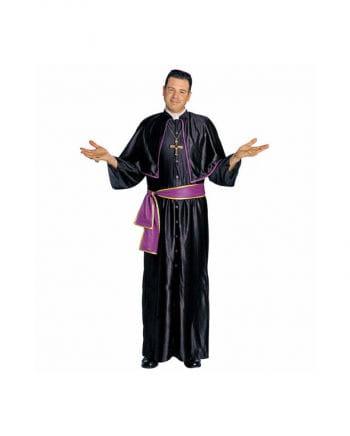 Kardinal Kostüm Schwarz Violett Gr. L