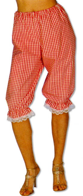 Checked Red / White Trousers S/M 36-38