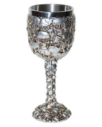 Goblet with skulls 17 cm