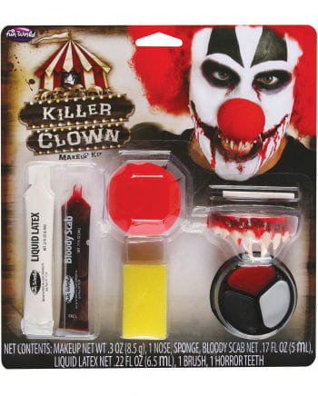 Horror Clown Makeup Kit 9 Pcs.