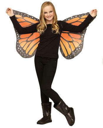 Kinder Schmetterlingsflügel orange