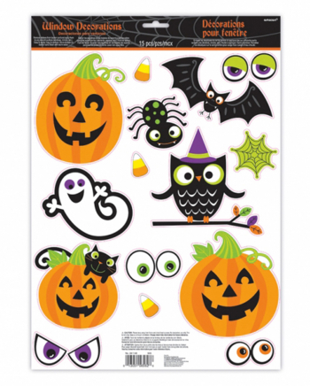 15-piece Child-friendly Halloween Stickers